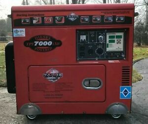 Tahoe Portable Power Tpi 7000 Lxh Diesel Powered 418cc Generator 7kw Jobsite