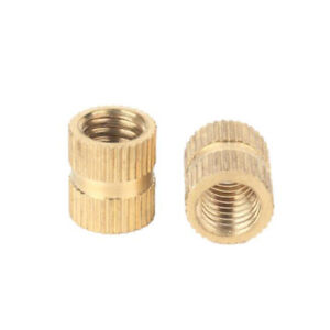 M4 M5 Press in Brass Injection Molding Knurled Thread Insert Embedded Nuts