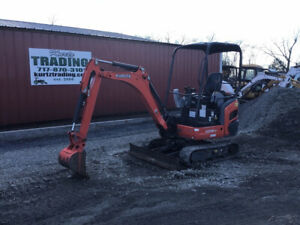 2017 Kubota Kx018 4 Hydraulic Mini Excavator One Owner Only 1300 Hours
