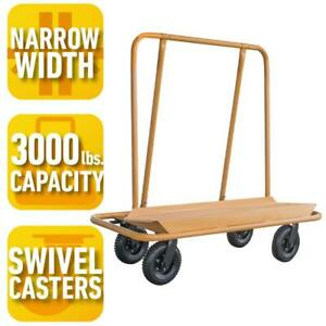 Load Capacity Drywall Cart 3000lb Installing Panel Drywall Ceiling Swivel Caster