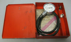 Snap on Tools Psi Kilopascal Compression Tester Set W Metal Box