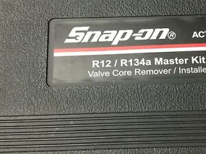Snap On Act1297 Master Valve Core Tool Set R134a R12 Pds008416 Excellent
