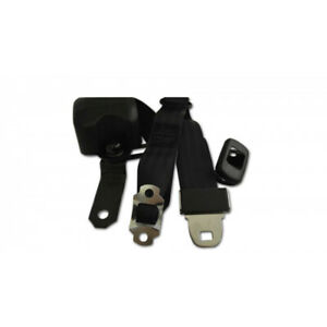 Chevelle And Malibu 3 point Retractable Bench Front Seat Belt Kit With Plain