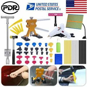 Paintless Hail Removal Dent Puller Lifter Pdr Tools Tap Ding Hammer Line Board