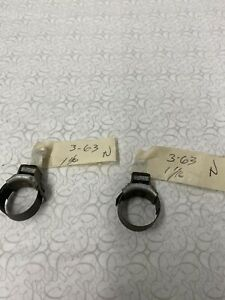2 Nos Mustang Heater Hose Tower Clamps 1 1 16 Original Ford 03 1963