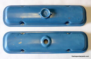 1971 79 Pontiac V8 Valve Covers 350 400 455 71 72 73 74 75 76 77 78 490027 Blue