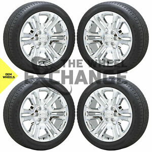 22 Chevrolet Silverado Tahoe Suburban Chrome Wheels Rims Tires Factory Oem Gm
