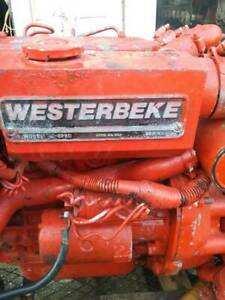 Westerbeke 30b Three Marine Diesel Engine 3 Cylinder 28 Hp 2 5 1 Ratio