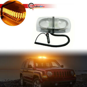 240 Led Emergency Warning Roof Top Strobe Snow Plow Light Amber White