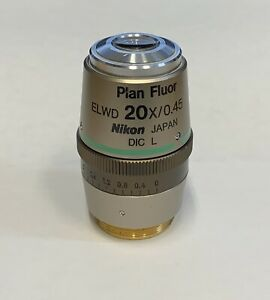 Nikon Plan Fluor Elwd 20x Dic L Eclipse Ts Te Ti Inverted Microscope Objective
