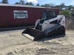 2005 Bobcat T250 Compact Track Skid Steer Loader W Cab Kubota Engine 2400hrs