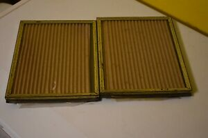 Vintage Metal 1980 S 8 X10 Mother Pearl Inlay Picture Frame 2 Piece Set Setc