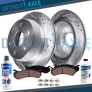 319mm Front Drilled Brake Rotors Ceramic Pads For 1996 1997 2002 Toyota 4runner
