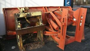 Gledhill Power Angle Snowplow Road Plow With Truck Frame 10 Foot In Nj