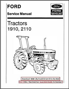Ford 1910 2110 Compact Tractors Service Repair Shop Technical Manual