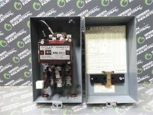 Used Enclosed Cutler Hammer A10bg0 Size 0 Contactor Series A1 18 Amp 120v Coil
