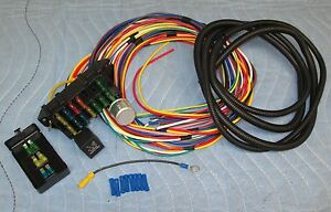 12 Fused Wiring Harness Hot Rod Street Rod Universal Wire Car Truck