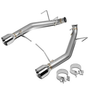 For 2011 2014 Ford Mustang 3 7l 4 od Muffler Tip Axle Cat Back Exhaust System