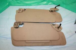 2000 Ford Expedition Tan Sun Visor Set Left Right W Lights Used Oem