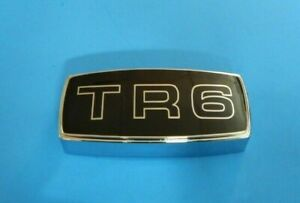 Brand New Metal Enamel Grille Grill Badge Medallion Triumph Tr6 Assembly