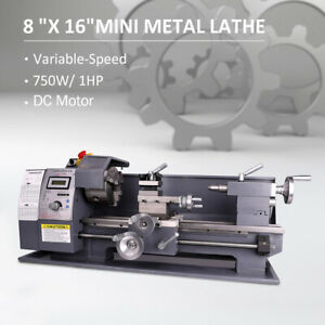 750w 1hp 8 x16 Automatic Mini Metal Lathe Variable speed Metalworking Milling