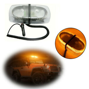 Emergency Roof Warning 240 Led Strobe Plow Light Magnetic Base Amber