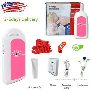 Pocket Baby Heart Fetal Doppler Prenatal Heart Monitor Beat Fetal Heart Rate gel