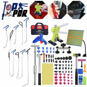 Pdr Paintless Car Dent Hail Removal Push Rods Puller Lifter Slide Hammer Tools