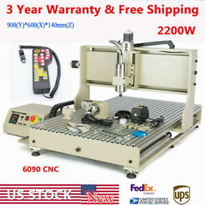Usb 4 Axis Cnc 6090 Router Engraver Machine Drilling Engraving 2 2kw Handwheel