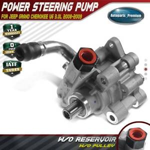 Power Steering Pump W Pulley For Jeep Grand Cherokee Wh Wk 07 09 3 0l Diesel