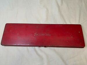 Vtg Snap On Tools Socket Toolbox Used Good Condition Empty Krs 284 A2
