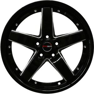 4 Drift Wheels 17 Inch Black Laser Mill Rims Fits Pontiac G6 Sedan 2005 2006