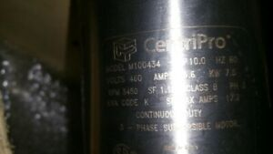 Centripro 4 goulds M100434 Submersible Well Water 10hp Pump Motor 3 60 460v