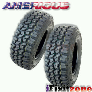 2 Americus Rugged Mt Lt265 75r16 123 120q E 10 All Terrain Mud Tires