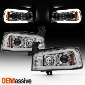 Halogen Fits 2006 2010 Dodge Charger Sedan Chrome Drl Led Projector Headlights
