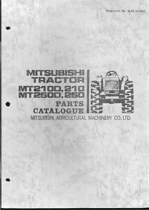 Mitsubishi Mt2100 Mt210 Mt2500 Mt250 Parts Manual On Cd