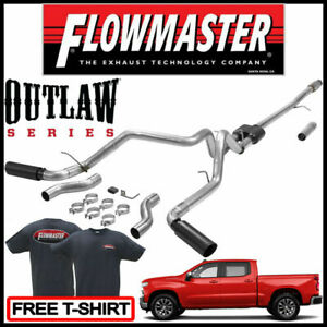 Flowmaster 2019 2020 Silverado 1500 New Body Style Outlaw Cat back Exhaust Kit