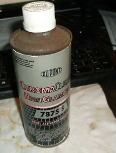 Nos Pint Can Of Dupont Chromaclear High Glamour 7875s Panel Activator Reducer