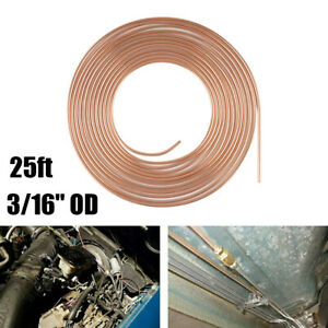 Copper Nickel Steel Brake Line Tubing Kit 3 16 od 25 Foot Coil Roll For Auto Car