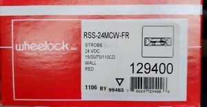 Brand New Wheelock Rss 24mcw fr Fire Alarm Strobe 129400 Wall Mount Red 24vdc
