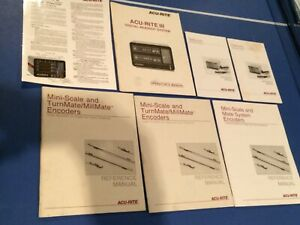Multiple Acu rite Mini Scale Mate System Encoders Reference Owner s Manuals
