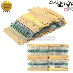 3120pcs 156 Values 1 4w 1 Metal Film Resistors Assortment Kit Set 1ohm 10mohm