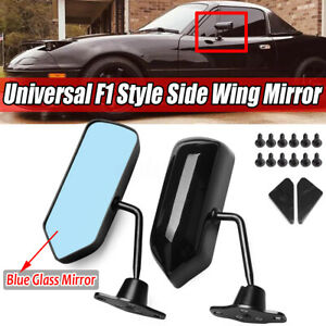 2pcs F1 Style Universal Racing Side Rearview Wing Mirrors For Honda toyota mazda