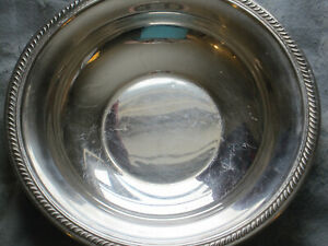 Vintage F B Rogers Silver Plate Round Bowl Fruit Candy Dish
