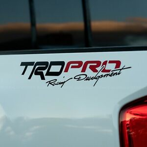 X2 Trd Pro Toyota Racing Development Die cut Decal Set For Toyota Tacoma Tundra
