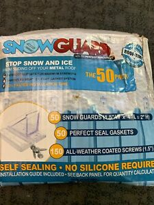 Mini Snow Guard 50 Pack Stop Ice Falling Metal Roof read Description New