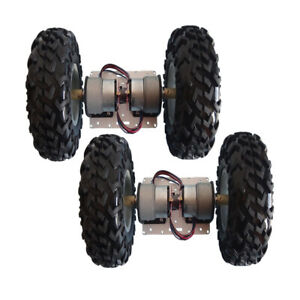 2x Smart Car Chassis Wheel With Encoder Motor For Arduino Obstacle Avoidance