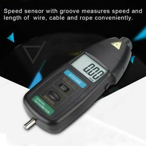 Dt2236b Professional Digital Lcd Photo Tachometer Contact Rpm Meter Tach Tester