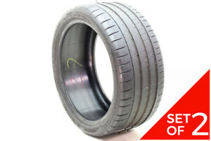 Set Of 2 Used 245 35zr18 Michelin Pilot Super Sport 92y 6 7 5 32