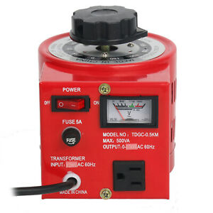Tdgc 0 5kva 500w 110v Variable Ac Transformer Auto Regulator 0 130v 500va Us